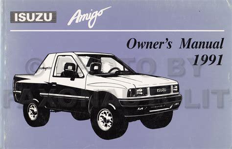 1991 isuzu amigo 1990 1991 isuzu amigo pickup repair shop manual