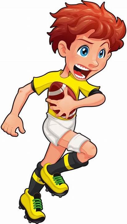 Clipart Sports Rugby Sport Clip Cartoon Boy