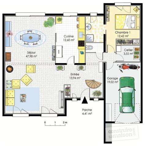 plan maison plain pied 4 chambres grande maison contemporaine dé du plan de grande