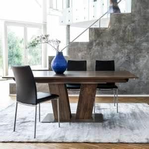 Table Pied Central Extensible : table en bois 4 ~ Teatrodelosmanantiales.com Idées de Décoration