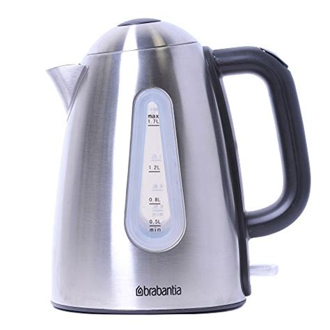 kettle jug brabantia stainless steel brushed pyramid litre kw kettles electric