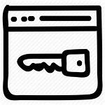 Key Browser Secure Lock Words Icon Security