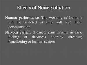 Noise Pollution