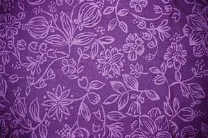 Purple Fabric with Floral Pattern Texture Picture   Free ...