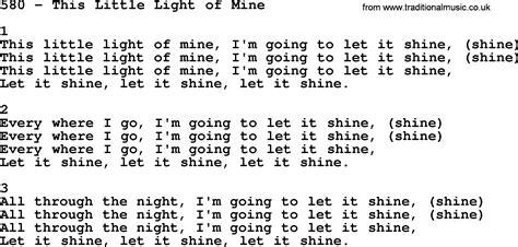 this light of mine lyrics adventist hymnal song 580 this light of mine