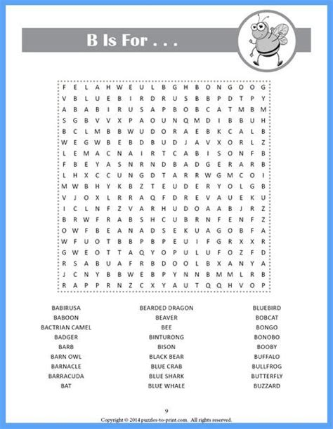 animal word search puzzles printable pdf puzzles to print