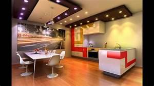 Kitchen ceiling lighting design ideas 720p - YouTube
