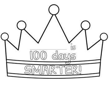 100th Day Of School Crown Template by 1000 Images About 100th Day Of School On