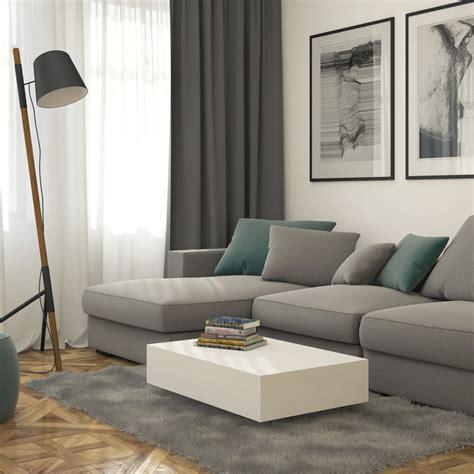 White Living Room Table Ls by Modern High Gloss Levitating White Rectangular Coffee