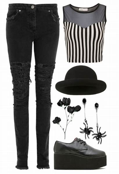 Outfits Grunge Polyvore Gothic Gore Punk Emo