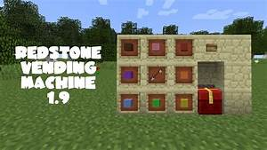 Minecraft Tutorial: Redstone Vending Machine 1.9 - YouTube