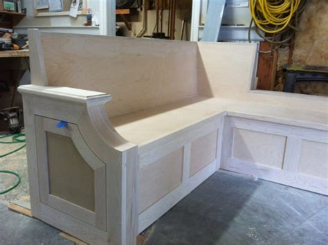 Window seats combine the comfort of indoor seating with aesthetics of the outdoors; Kitchen Bench Seat - Finish Carpentry - Contractor Talk