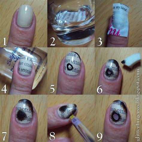 tutorial burned paper nails  paint  nails
