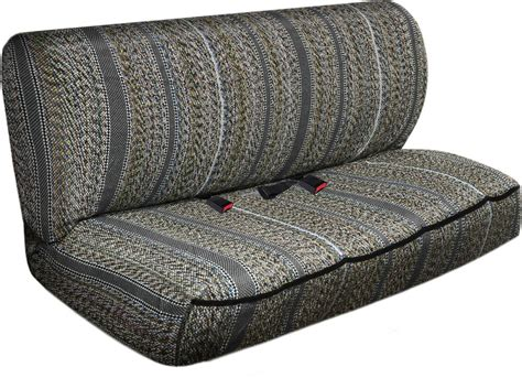 Truck Bench Seat Cover by Car Seat Covers Ash Gray Western Woven Saddle Blanket 2pc