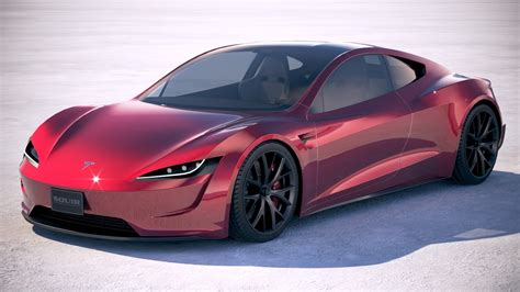 Tesla Car : Lowpoly Tesla Roadster 2020