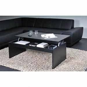 Table Basse Noir : darwin table basse plateau relevable noir 120x60 achat vente table basse darwin table basse ~ Teatrodelosmanantiales.com Idées de Décoration