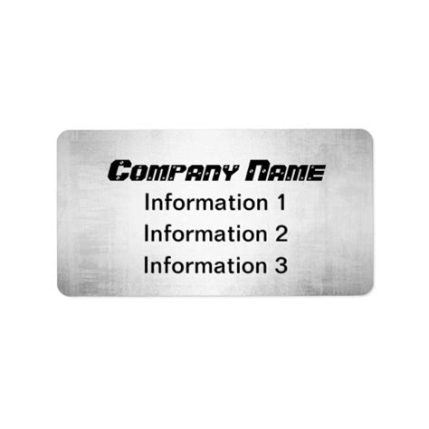 silver address label silver metal look return address shipping labels zazzle