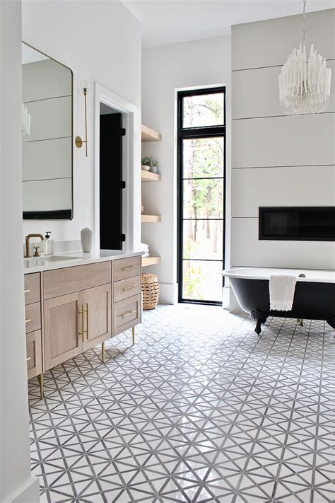 Vintage Modern Bathroom Design by The Forest Modern Modern Vintage Master Bathroom Reveal