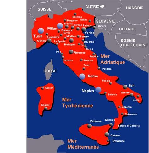 Carte Italie Villes by Carte Italie Villes