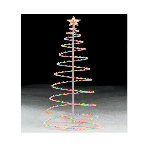 multicolor lighted spiral christmas tree  occasion