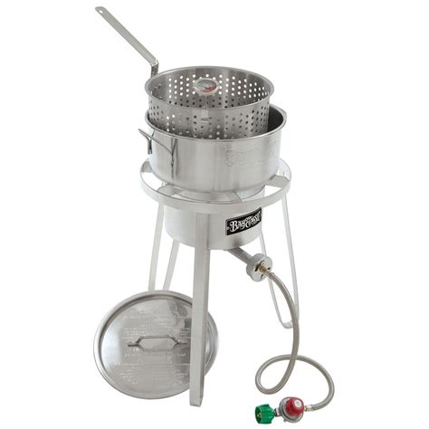 bayou classic stainless outdoor cooker fish fryer 1135