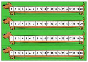 Printable Number Line to 20