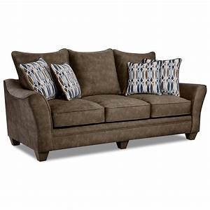 American furniture 3850 3853 athena brown elegant sofa for American home furniture outlet