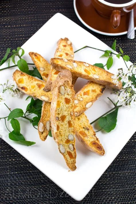 Turn biscotti over and bake 5 minutes longer. Orange, Almond and Apricot Biscotti | Recipe in 2020 ...