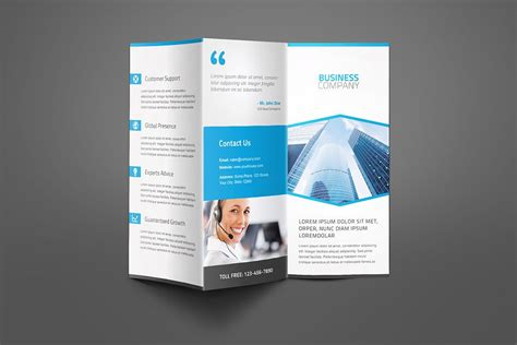 corporate business trifold brochure brochure templates