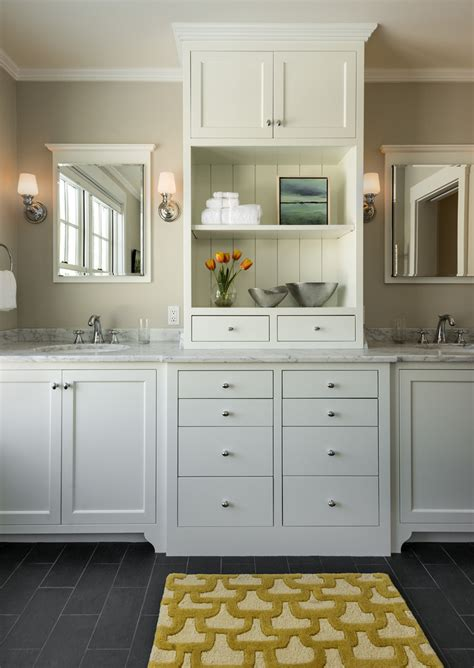 modern makeup vanity marble looking granite bathroom traditional with built in