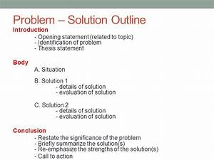 academic english iii class 22 may 29 ppt download With problem solution outline template
