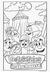 Coloring Pages Veggie Tales Printable sketch template