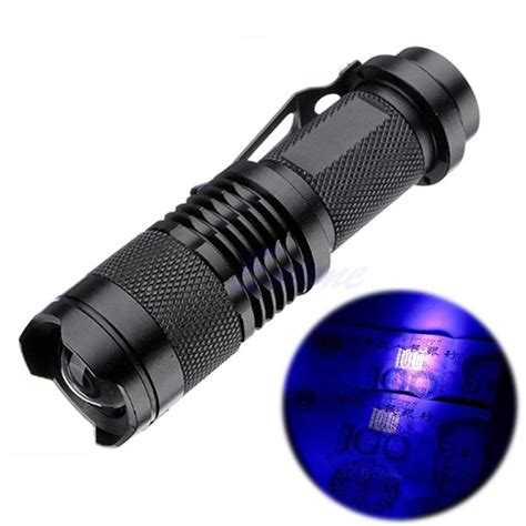 zoomable led uv flashlight torch light ultra violet light