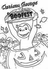 Coloring Curious George Halloween Boofest Wecoloringpage Pdf Coloringhome sketch template