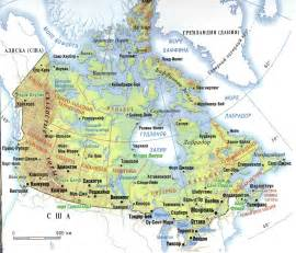 Canada Geography Map