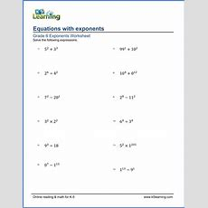 Grade 6 Exponents Worksheets  Free & Printable  K5 Learning