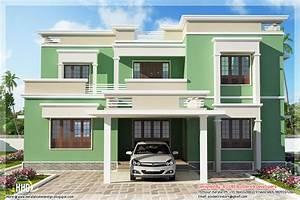 Indian flat roof villa in 2305 sq feet - Kerala home