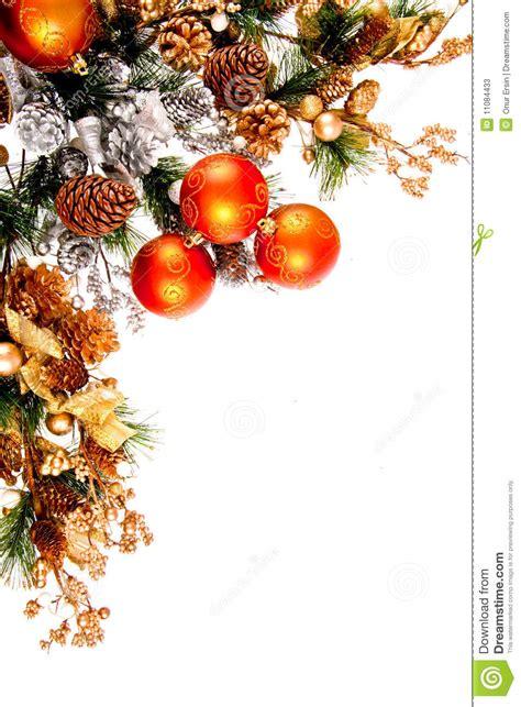 christmas ornament corner decoration series stock