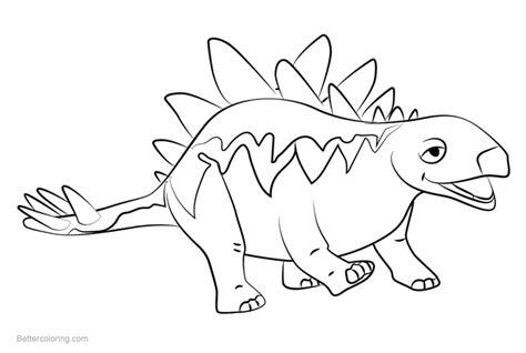 Dinosaur Train Coloring Pages Morris Stegosaurus