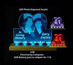 Usb  110v  240v Personalized Photo Etched Sign   Memoria