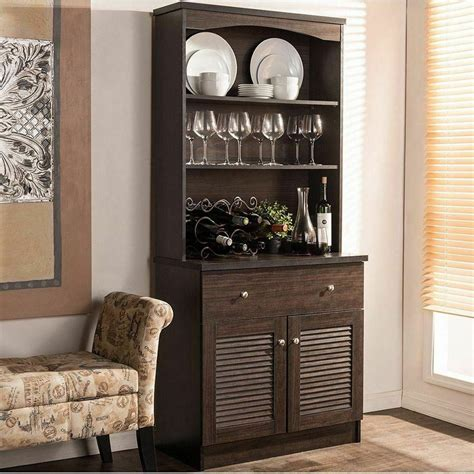 espresso buffet microwave kitchen storage cabinet cupboard