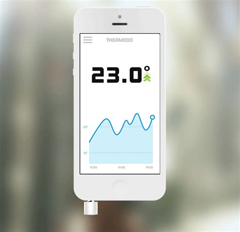 iphone temperature sensor thermodo thermometer plugs into your iphone s headphone