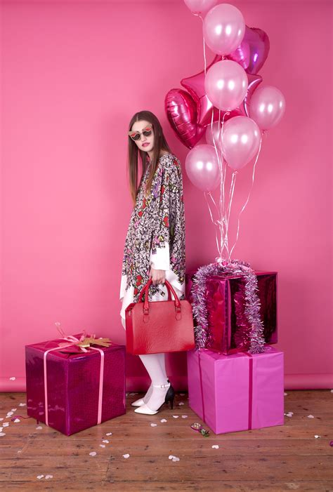 art direction pink monochromatic holiday party fashion