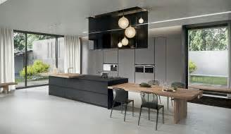 kitchen island breakfast table sophisticated contemporary kitchens with cutting edge design