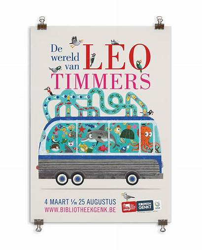 Leo Timmers Interactive Exhibition Behance Illustrations