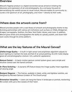 Meural Meu020dc27 Wifi Connected Digital Frame For