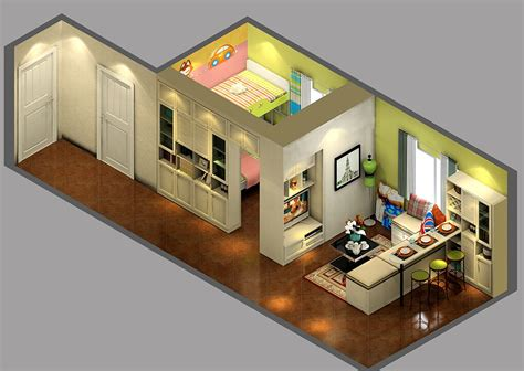 Home Interior Designs For Small Houses Small House Living Room Blue Brick Wall Korean Style Interior Design