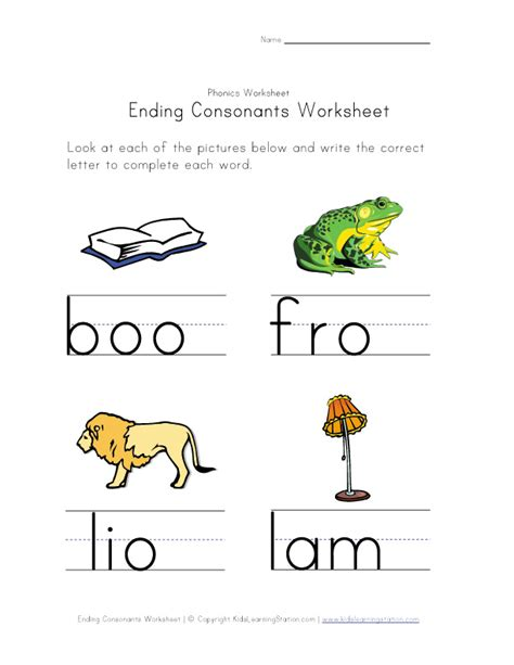 at consonant worksheets images