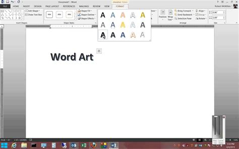 how to use word how to use word art in microsoft word 2013 youtube