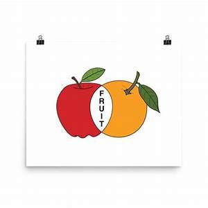 Apple  U0026 Orange Venn Diagram Wall Art Print